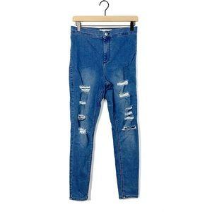 Top Shop Moto Joni High Waist Distress Skinny Jean